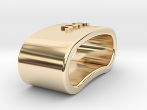 JAVI 3D Napkin Ring with daisy in 14k Gold Plated Brass
