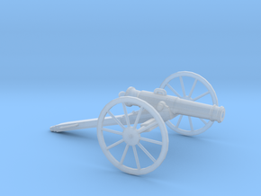 1/48 Scale American Civil War Cannon 24-pounder in Smooth Fine Detail Plastic