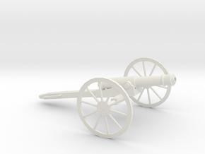 1/48 Scale American Civil War Cannon 10-Pounder in White Natural Versatile Plastic