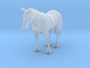 HO Scale Clydesdale Horse in Smooth Fine Detail Plastic