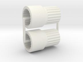 AR60 lockout-V7-bearing inside-11-Short-X2 in White Natural Versatile Plastic