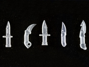 Dagger Pack in Smooth Fine Detail Plastic