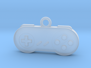 Super Nintendo Controller Pendant all materials ga in Smooth Fine Detail Plastic