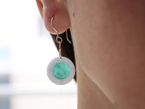Paper Earrings - Customizable   in White Strong & Flexible Polished