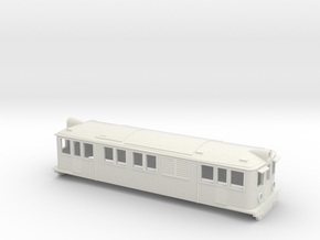 Swedish SJ electric locomotive type D - H0-scale in White Natural Versatile Plastic