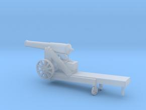 1/100 Scale Civil War 32-pounder M1845 Seacoast Gu in Smooth Fine Detail Plastic