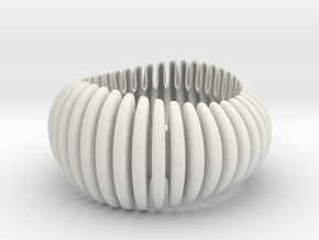 Wave Wide Bracelet BLACK in White Premium Versatile Plastic