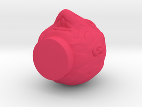 Fisherman's Head  in Pink Processed Versatile Plastic