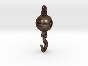 Mckissick 20T Headache ball in Polished Bronze Steel