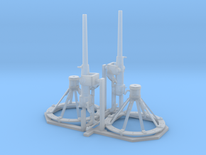 2x72nd_Hotchkiss_6pdr_Gun in Smooth Fine Detail Plastic