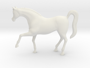 Printle Thing Horse 02 - 1/24 in White Natural Versatile Plastic