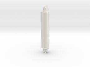 "Art Deco Glass Rod Sconce 1/2"" Scale in White Natural Versatile Plastic"