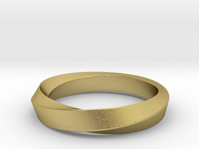 iRiffle Mobius Narrow Ring I(Size 12.5) in Natural Brass