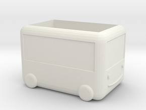 Wagon in White Natural Versatile Plastic