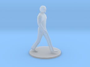 S Scale Man Walking in Smooth Fine Detail Plastic