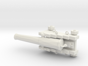 1/48 Scale 32 Pounder M1829 on Naval Carriage in White Natural Versatile Plastic