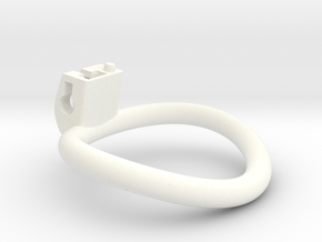 Cherry Keeper Ring - 55x50mm Wide Oval (~52.5mm) in White Processed Versatile Plastic