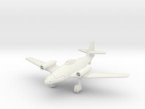 (1:144) Messerschmitt P.1065 Top Mounted Jet in White Natural Versatile Plastic