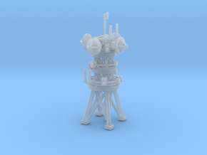 "Antenna tower 3"" in Smooth Fine Detail Plastic"