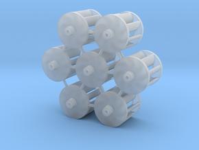 7 Lüfterräder Ø10mm in Smoothest Fine Detail Plastic