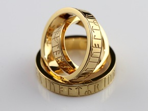 Kingmore Ring of Regeneration - Gold-Plated Brass in 14k Gold Plated Brass: 8.5 / 58