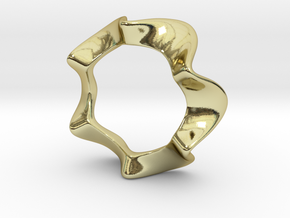 Amylene ring in 18k Gold Plated Brass: 6 / 51.5