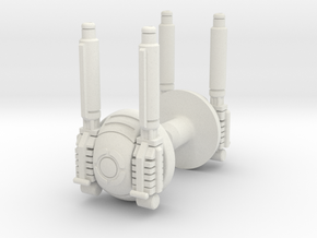 Astro Megaship Cannons in White Natural Versatile Plastic