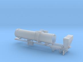 1/64th Asphalt Drum Batch Mixer Dryer trailer in Smooth Fine Detail Plastic
