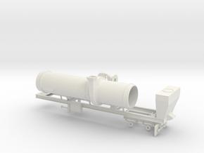 1/50th Asphalt Drum Mixer Batch Dryer Trailer in White Natural Versatile Plastic