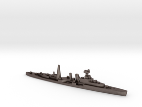 HMS Coventry (masts) 1:1800 WW2 naval cruiser in Polished Bronzed-Silver Steel