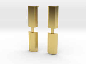 GRACE-FO Spacecraft earrings in Polished Brass