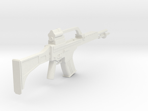 1:6 Heckler and Koch G36 with Bayonet in White Natural Versatile Plastic
