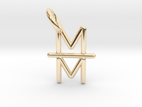 Mind over Matter Pendant in 14K Yellow Gold