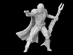 (1/47) The Mandalorian in Smooth Fine Detail Plastic