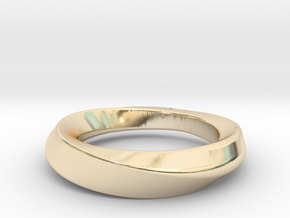 mobius 21.89mm in 14k Gold Plated Brass