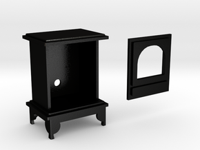 1:12 scale Woodburning Stove in Matte Black Steel