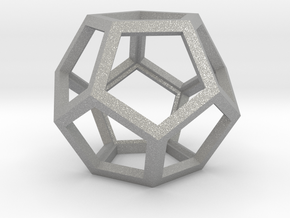 """Dodecahedron 1.75"""" in Aluminum"""