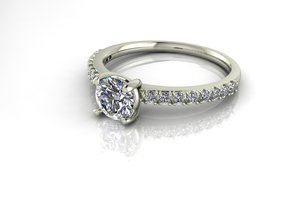 Classic Solitaire 22 NO STONES SUPPLIED in 14k White Gold