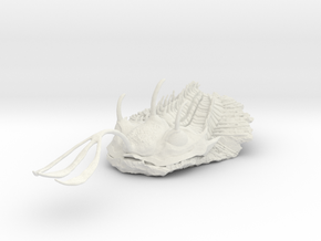 Trilobite - Walliserops Trifurcatus in White Natural Versatile Plastic