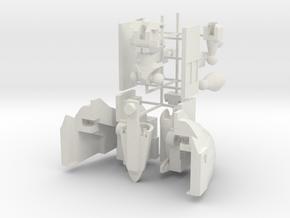 Micromaster-01 Windy(Siege-scale) in White Natural Versatile Plastic