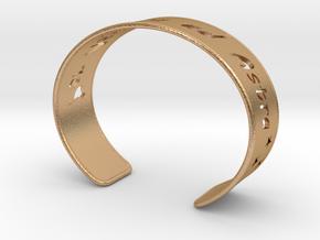 Cuff Bracelet  Per Aspera ad Astra in Natural Bronze