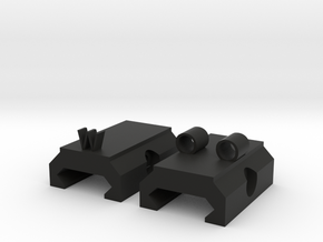 OWO Iron Sights For Piccatiny Rail in Black Natural Versatile Plastic