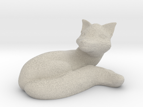 Relaxing Fox in Natural Sandstone