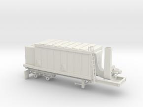 1/50th Asphalt Plant Baghouse Filter Trailer in White Natural Versatile Plastic