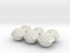 Terran (TFN) Battleship Datagroup (sprued) in White Natural Versatile Plastic