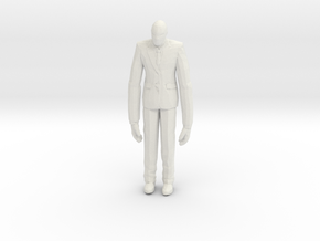 Slenderman 1/60 miniature for games and rpg horror in White Natural Versatile Plastic