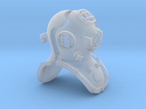 12th scale diving helmet in Smooth Fine Detail Plastic