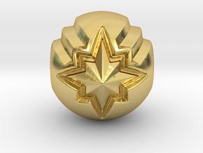 Captain Marvel Pandora Charm in Polished Brass