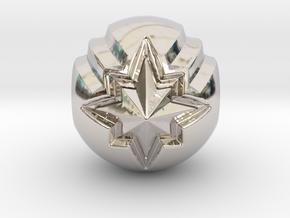 Captain Marvel Pandora Charm in Platinum