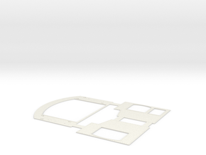 G Scale Reading T1 Cab Sides in White Natural Versatile Plastic